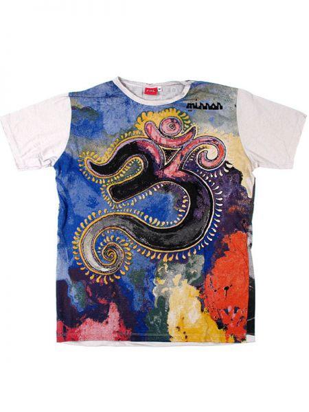 half off a7214 3e96f T-shirt etnica uomo Aum colorato - Bianca - 03 NOVITA' - T ...