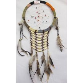 Dreamcatcher acchiappasogni con perline in legno - 22cm
