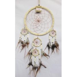Dreamcatcher acchiappasogni con perline - 22cm - Vari colori