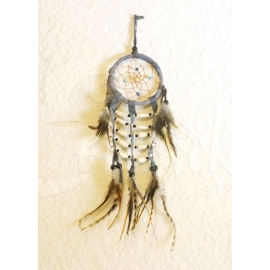 Dreamcatcher acchiappasogni con perline in legno - 8cm