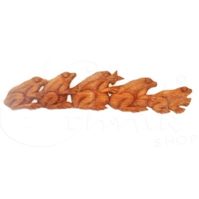 Appendibile greca con bassorilievo rana - lunghezza 70cm