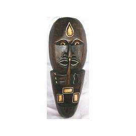 Maschera etnica tribale in legno