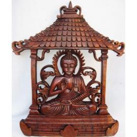 Pannello decorativo in legno Buddha