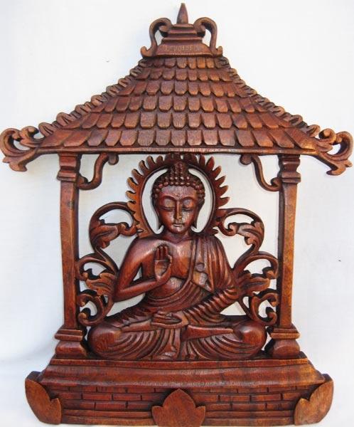 Pannello decorativo in legno buddha appendibili ethnik - Pannello decorativo ...