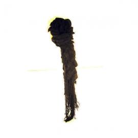 Sciarpa di lana con rouches nera