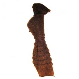 Sciarpa di lana marrone