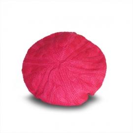 Cappello basco rosa tricot