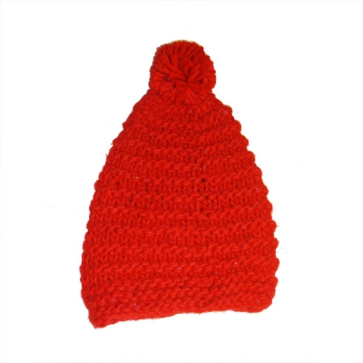Cappello tinta unita con pon pon - Vari colori