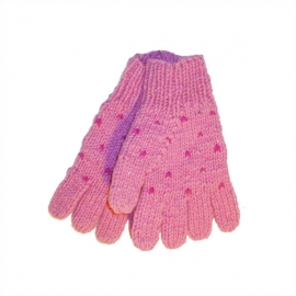 Guanti di lana con cuoricini - Vari colori