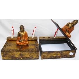 Scatola porta carte porta penne Buddha seduto