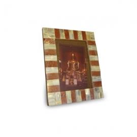 Cornice in legno e madreperla 16x11cm