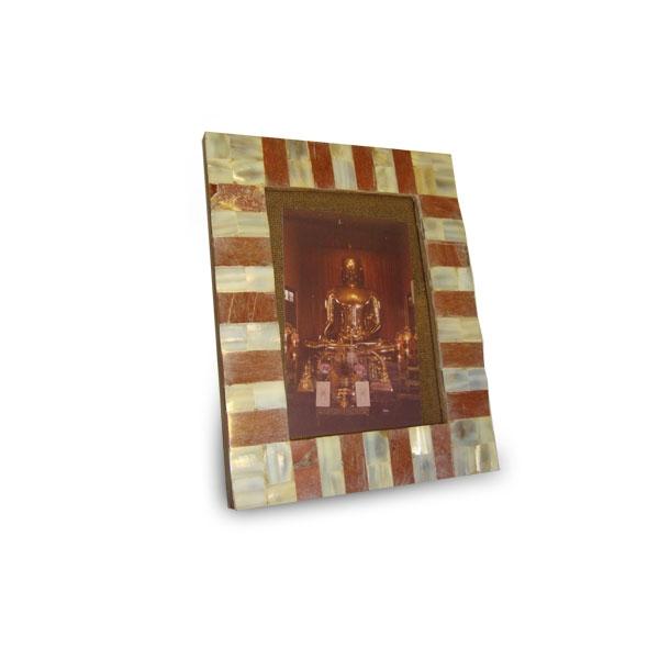 Cornice in legno e madreperla 16x11cm cornici album foto for Cornice foto legno
