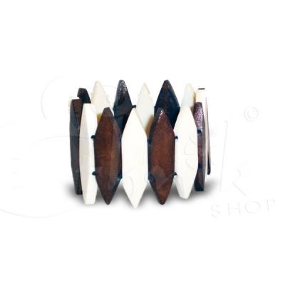 Bracciale etnico in osso taglio punta