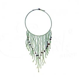 Collana etnica girocollo - cascata di perline