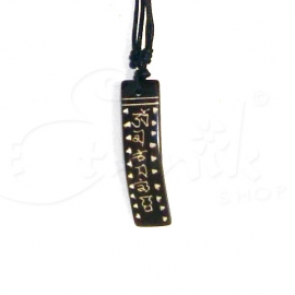 Collana con ciondolo in pietra incisa - lost designs