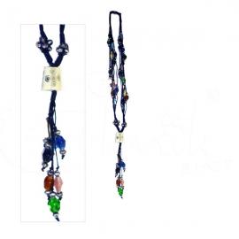 Collana fantasia di lacci con pendente multicolore