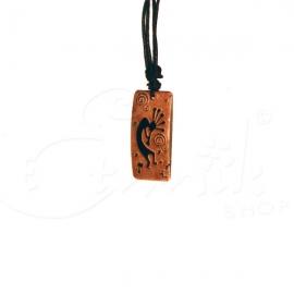 Collana con ciondolo in pietra incisa Dancer