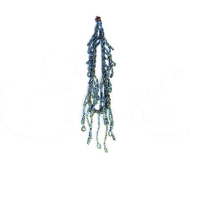 Collana torcione con perline e pendenti