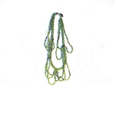 Collana torcione con perline con fili multipli