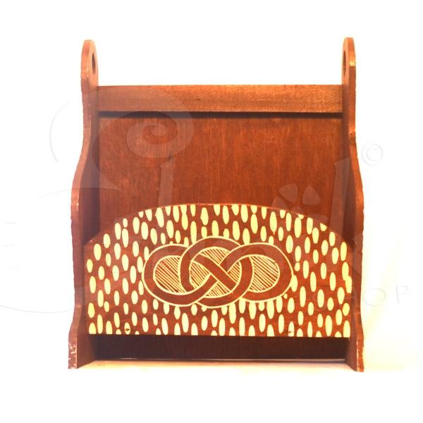 Porta riviste in legno intarsiato grande mobiletti e - Mobiletti in legno ...