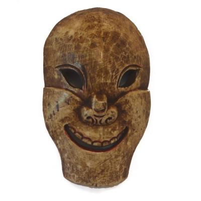Maschera Nepalese volto che ride
