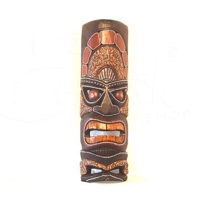 Maschera in legno totem nepalese
