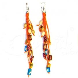 Orecchini con perline di legno colorato - Vari colori