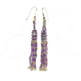 Orecchini di perline violet - Vari colori.