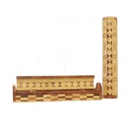 Porta incenso a scatola in legno bicolore