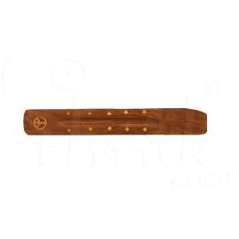 Porta incenso in legno inserti in ottone