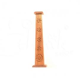 Porta incenso verticale legno traforato