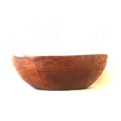 Ciotola svuota tasche in legno intarsiato