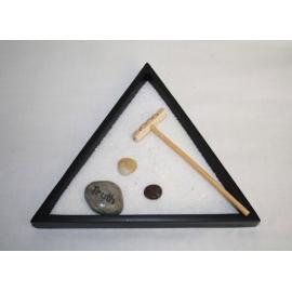 Giardino Zen triangolare