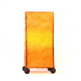 Lampada Skin arancione rettangolare  - altezza 20cm