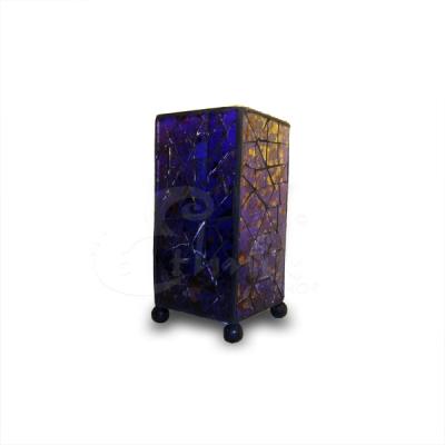 Lampada abstract in vetro blu rettangolare- altezza 20cm