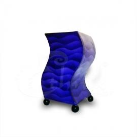 Lampada blue waves forma onda - altezza 20cm