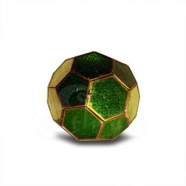 Applique in metallo e vetro a dodecaedro