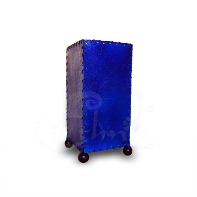 Lampada Skin blu rettangolare - altezza 20cm