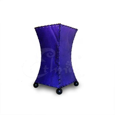 Lampada Skin viola svasata - altezza 20cm