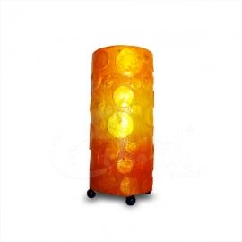 Lampada Boule arancione forma cilindrica - altezza 30cm