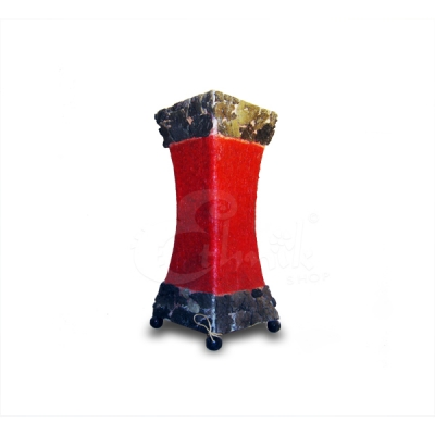 Lampada Stone rossa a forma svasata - altezza 30cm