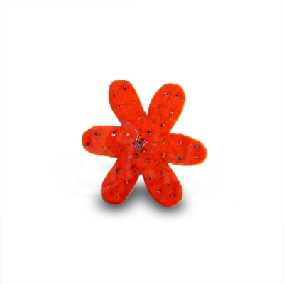 Spilla in lana cotta fiore 10
