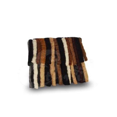 Porta monete in lana cotta rettangolare con frange - Vari colori