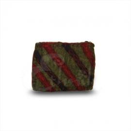 Porta monete in lana cotta rettangolare righe 2