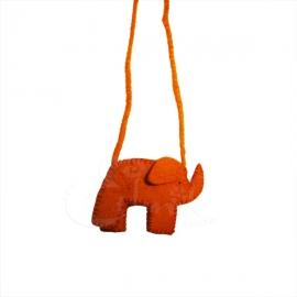 Borsina porta cellulare lana cotta elefantino - Vari colori