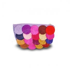 Trousse porta oggetti lana cotta boule 2