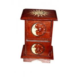 Mobiletto mini cassettiera 2 cassetti legno soleluna - 27cm
