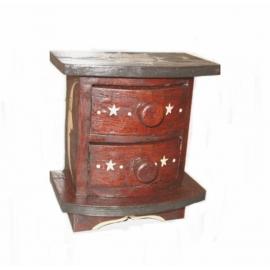 Mobiletto mini cassettiera 2 cassetti legno soleluna - 17cm