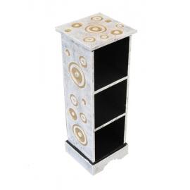 Mobiletto porta cd in legno decorato design - 50cm