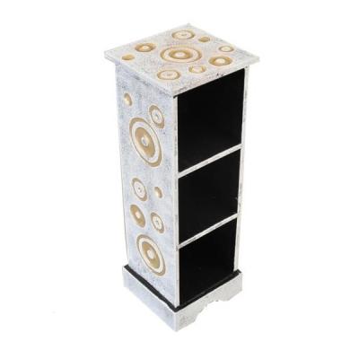 Mobiletto porta cd in legno decorato design 50cm - Porta cd in legno ...